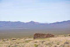 Ghost town, Nevada desert. USA stock image