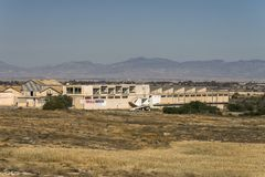 Ghost town in Northern Cyprus Stock Photos