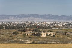Ghost town in Northern Cyprus Stock Photography