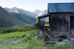 Ghost town with an old house. Stock Photography