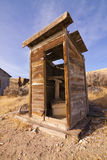 Ghost Town Out House. Abandoned in the Nevada desert Royalty Free Stock Images