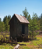 Ghost Town Outhouse Royalty Free Stock Photos