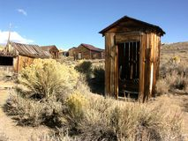 Ghost Town Outhouse. Outhouse, California Ghost Town of Bodie stock images