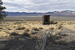 Ghost town outhouse in Berlin, Nevada Stock Images