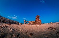 Ghost town - Rameshwaram, India. Ruins of the small village Dhanushkodi Stock Images