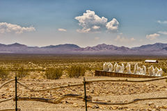 Ghost Town Rhyolite. Historic Goldwell Nevada USA royalty free stock image