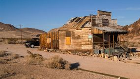 The Ghost Town Rhyolite, Nevada. Rhyolite Mercantile, a general store building was one of the last standing buildings in the ghost town Rhyolite, Nevada, before Royalty Free Stock Photos