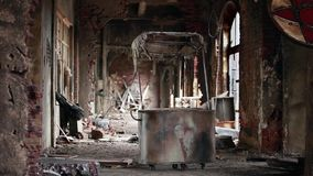Ghost town ruins stock footage