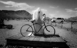 Ghost Town - Sculture in Rhyolite  Royalty Free Stock Photos