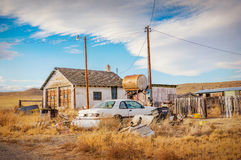 Ghost town. Somewhere in Colorado, United States,  vintage version Royalty Free Stock Image