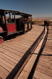 Ghost town train. Locomotive and wagons at the Calico ghost town i Stock Images