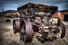 Ghost town wagon Royalty Free Stock Images