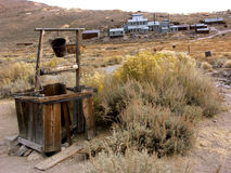 Ghost Town Well. California Ghost Town of Bodie stock photo
