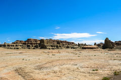 Ghost Town of the World at Xinjiang Royalty Free Stock Photography