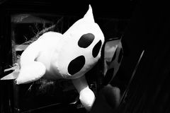 Ghost toy in black and white