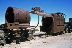 Ghost Train in Bolivia,Bolivia. Gohst Train near  Salar de Uyuni at Eduardo Avaroa National Reserve,Bolivia Stock Image
