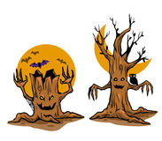 Ghost tree. Vector illustration of ghost tree. Vector stock for Halloween theme stock illustration
