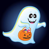 Ghost Trick or Treating Royalty Free Stock Photos