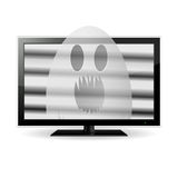 Ghost on TV screen Stock Image