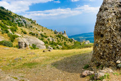 Ghost Valley. Summer mountain landscape in Crimea, Ukraine Stock Photos