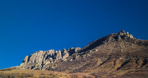 Ghost valley landscape and Demirji mountain Crimea Royalty Free Stock Photos