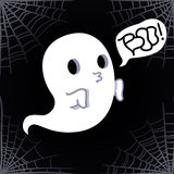 Ghost vector background (Boo!) Royalty Free Stock Photography