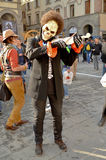 Ghost violinist at Lucca Comics and Games 2014 Royalty Free Stock Images