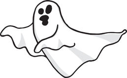 Ghost wandering and screaming on trasparent background Royalty Free Stock Images