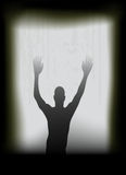 Ghost at the window Stock Photography