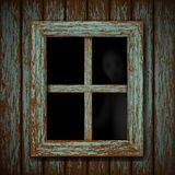 Ghost in the window Stock Photo