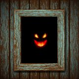 Ghost in the window. Vector Ghost in the window Royalty Free Stock Photo