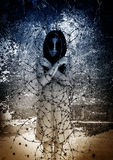 Ghost. Woman with barbed wire,Scary background for book cover Stock Photos
