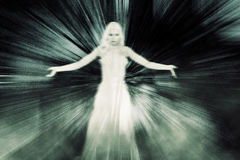 Ghost Woman in Limbo Stock Images