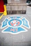 Ghostbuster strażacy w nowym York Fotografia Royalty Free