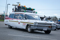 Ghostbusters Car. APRIL 26, 2015 - Woodbridge, NJ: A replica of the Ghostbusters Cadillac on display at the Cars of the Hollywood Screen car show stock images