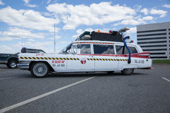 Ghostbusters Car. APRIL 26, 2015 - Woodbridge, NJ: A replica of the Ghostbusters Cadillac on display at a local car show royalty free stock images