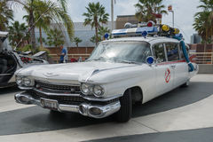 Ghostbusters car on display. Long Beach, CA - USA - September 12, 2015: Ghostbusters car on display at The Long Beach Comic Con held at the Long Beach Convention stock photography