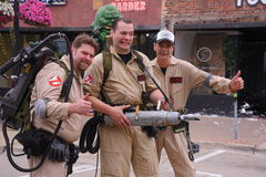 Ghostbusters of Detroit. Ghostbusters clean up Woodward in Ferndale royalty free stock images
