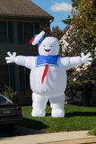 Ghostbusters Marshmallow Man Decoration. Lancaster, PA - October 28, 2016: A large blowup Halloween yard decoration of the Ghostbusters Stay Puft Marshmallow Man stock images