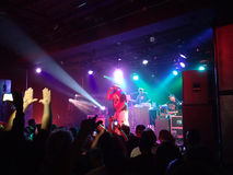 Ghostface Killah of Wu Tang clan raps on stage as crowd to wave Royalty Free Stock Photos