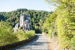 Ghostly Eltz Castle stock photo