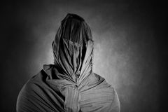 Ghostly figure in the dark Stock Images