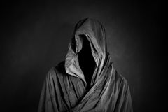 Ghostly figure in the dark. Scary ghostly figure in the dark Stock Photos