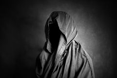 Ghostly figure in the dark. Scary ghostly figure in the dark Royalty Free Stock Photography