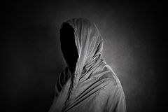 Ghostly figure in the dark. Scary ghostly figure in the dark Royalty Free Stock Photos