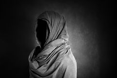 Ghostly figure in the dark Royalty Free Stock Images