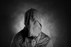 Ghostly figure in the dark. Scary ghostly figure in the dark Royalty Free Stock Photo