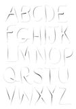 Ghostly Fonts Vector A to Z Alphabets. Vector illustrated fading alphabet from A to Z Stock Photography