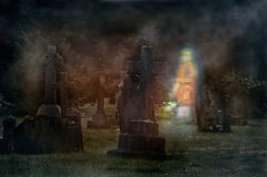 Ghostly Graveyard Royalty Free Stock Photos