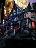 Ghostly Halloween house. Exterior of ghostly Halloween house with scary horror theme Stock Photos